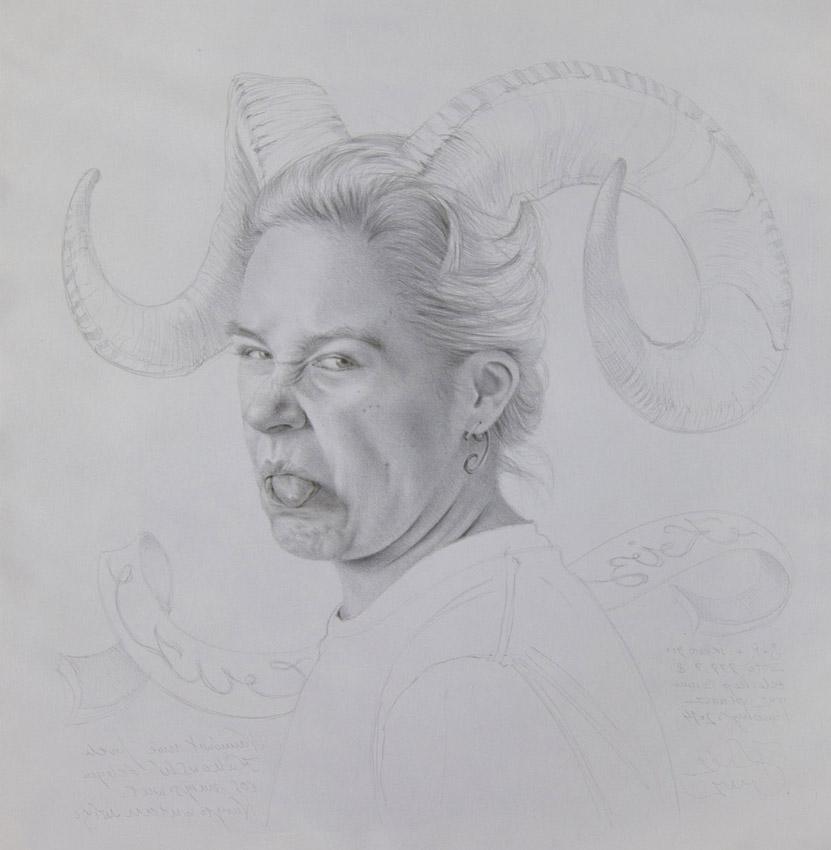 """Krzysztof Izdebski-Cruz, """"S+R"""", metalowy sztyft na papierze, 48×48 cm, 2014, cena – niedostępny"""