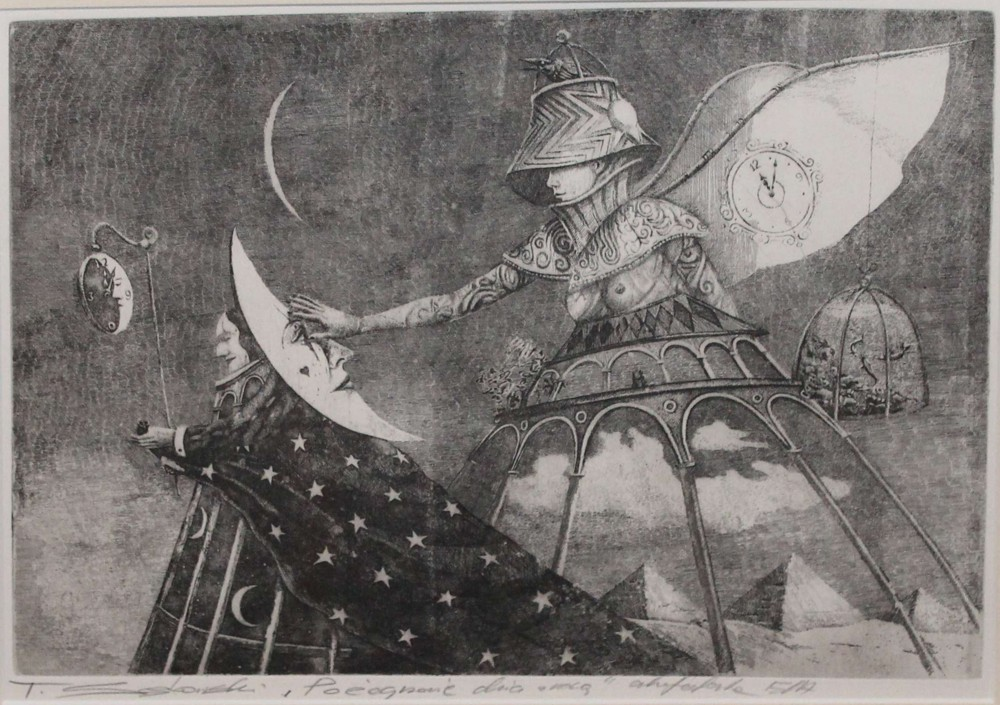 Tomasz Sętowski, serigrafia, 30×28 cm