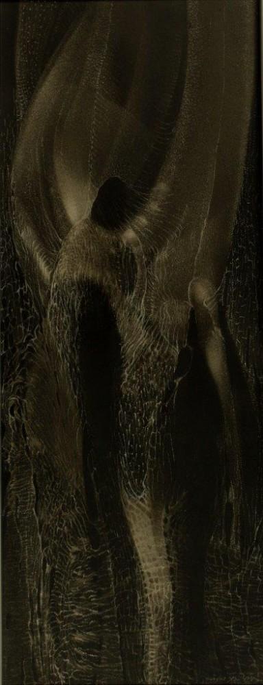 """Grzegorz Stec, """"Spotkanie"""", 1991, olej na płycie, 20 x 53 cm, cena – 7 000 zł"""