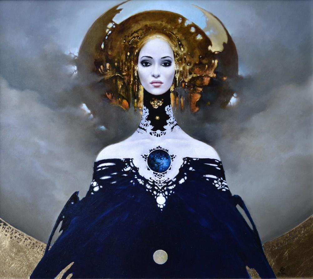"""Karol Bąk, """"Time IV"""", olej na płótnie, 80×70 cm, 2016"""