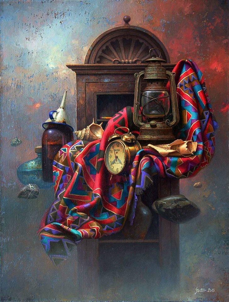 """Edward Szutter, """"Martwa natura CXXVI"""", olej na płótnie, 50 x 65 cm, niedostępny"""