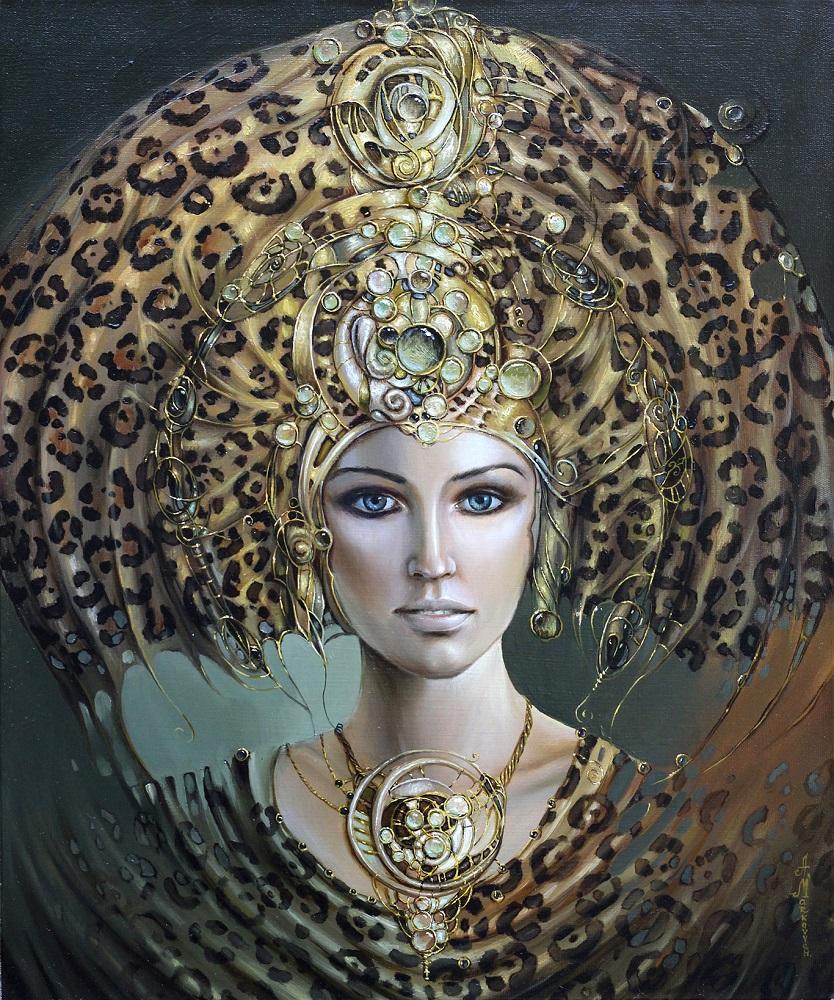 """Anastazja Markowicz, """"Księżniczka Inków"""", olej na płótnie, 50×60 cm, niedostępny"""