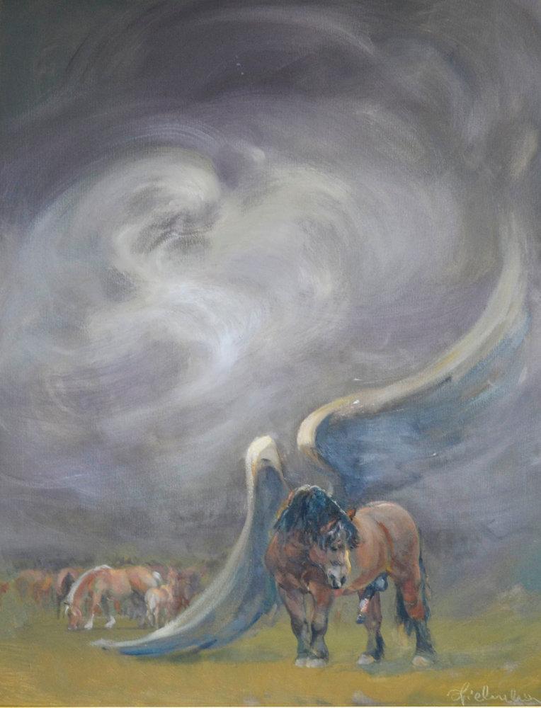 Daniel Pielucha, Pegaz, olej na płótnie, 87×69 cm, 9 000 zł