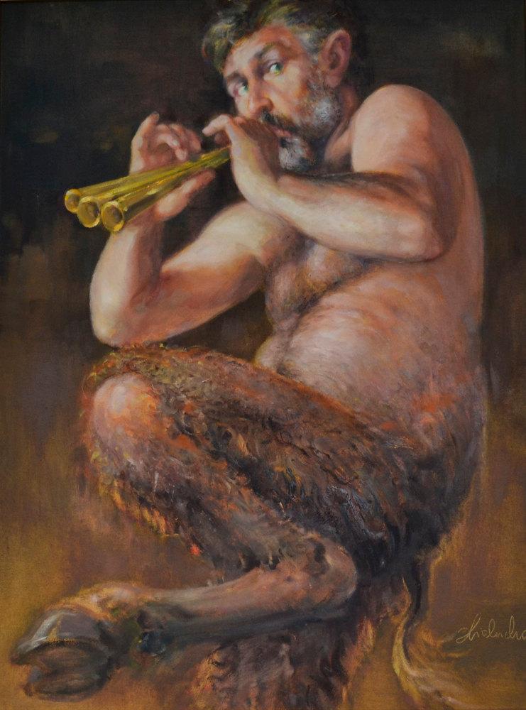 Daniel Pielucha, Satyr, olej na płótnie, 80×60 cm, 2011, 8 500 zł