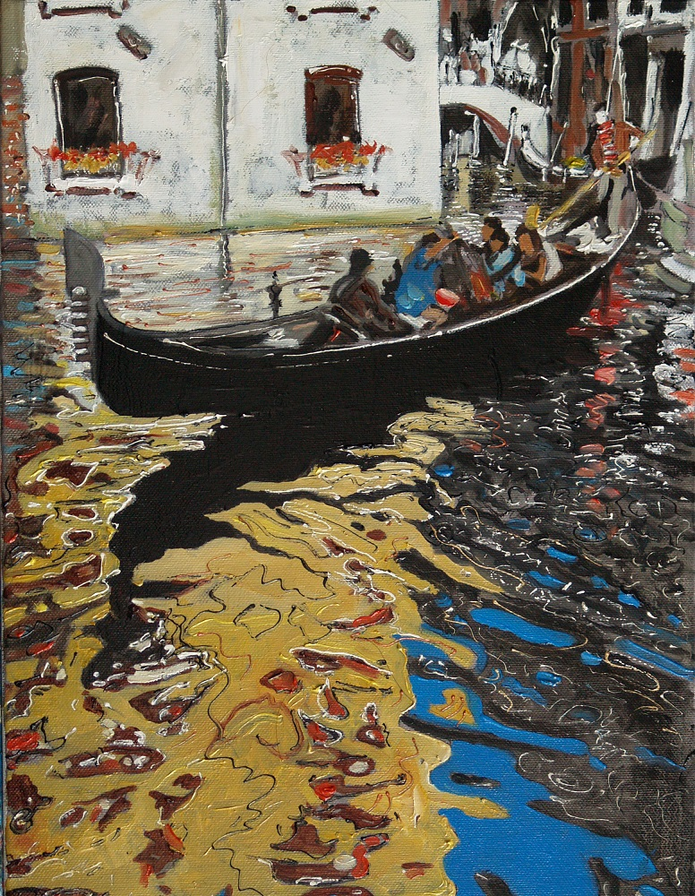 "Dariusz Żejmo, ""Venetian sketchbook 20.0"", olej na płótnie, 30x40cm"