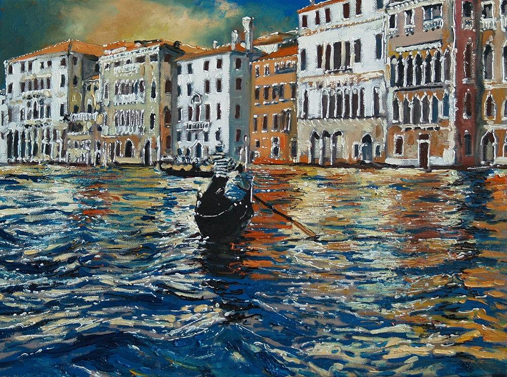 "Dariusz Żejmo, ""Venetian sketchbook 22.0"", olej na płótnie, 40x30cm"