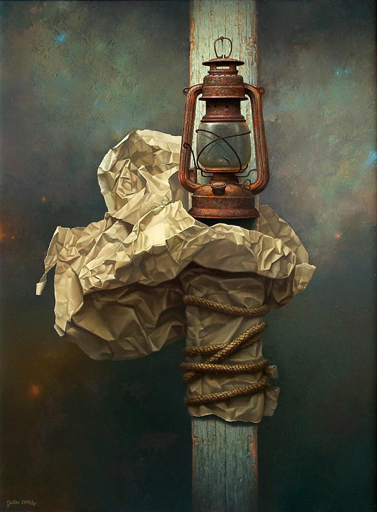 """Edward Szutter, """"Bez tytułu"""", olej na płótnie, 116×146 cm, cena 22 000 zł"""