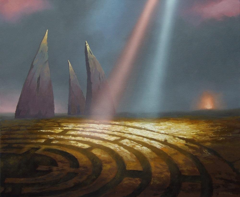 """Józef Stolorz, """"Miserere"""", olej, alkid na płótnie, 56 x 61 cm, 6 000 zł"""