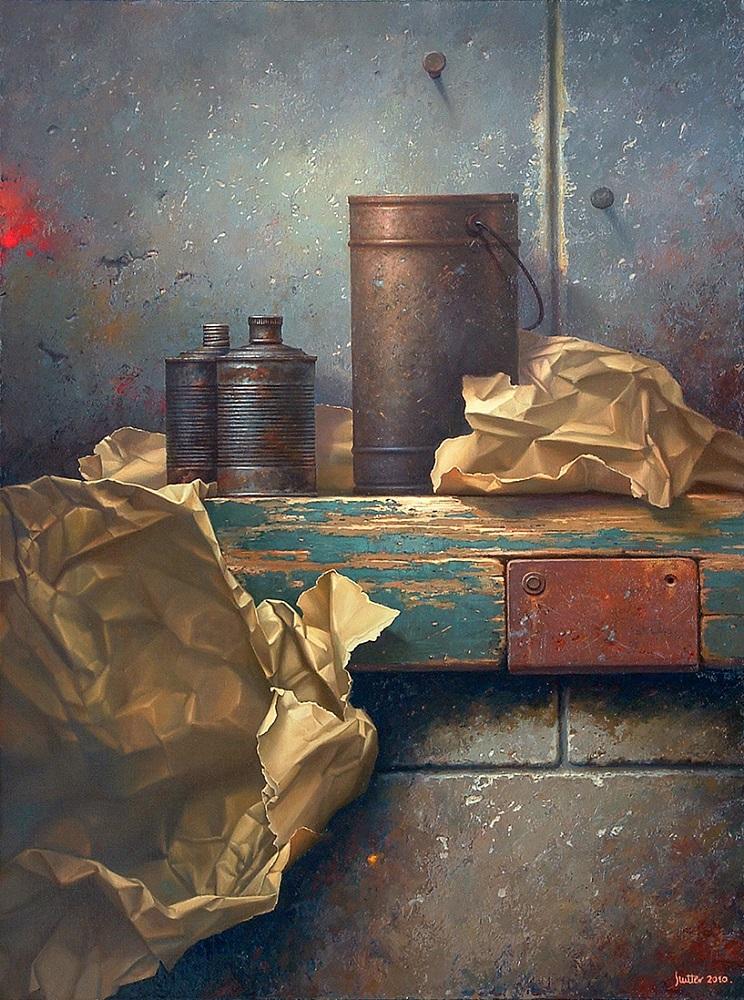 """Edward Szutter, """"Bez tytułu"""", olej na płótnie, 116×146 cm, 24000 zł"""