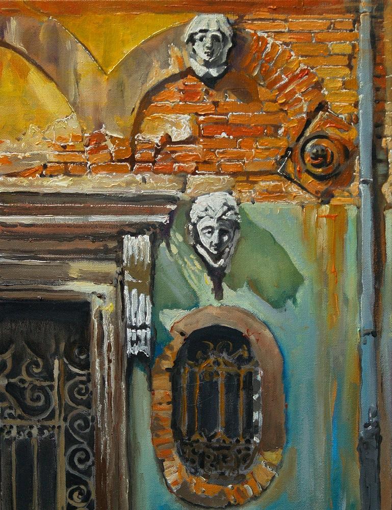 "Dariusz Żejmo, ""Venetian sketchbook 26.0"", olej na płótnie, 30x40cm"