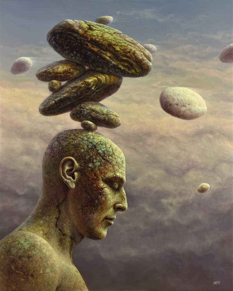 "Tomasz Alen Kopera, ""B16″, olej na płótnie, 61×76 cm, 2016, cena 25000 zł"