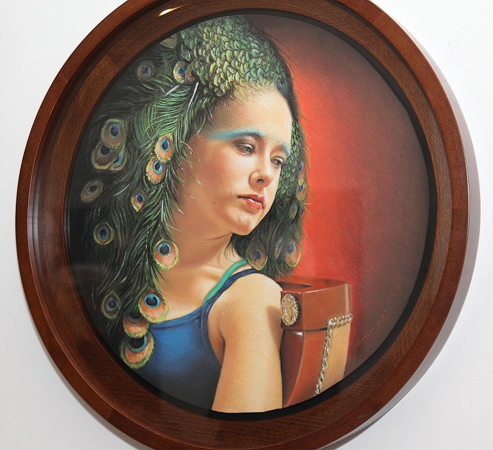 Krzysztof Izdebski-Cruz, Córka Gorgony, pastel na papierze, śr. 53 cm, 2011, cena – niedostępny