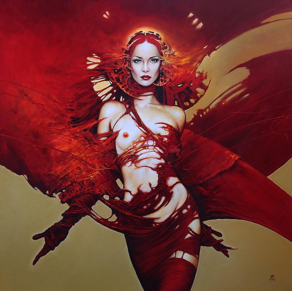 """Karol Bąk, """"Vanity"""", olej na płótnie, 100×100 cm, 2016"""