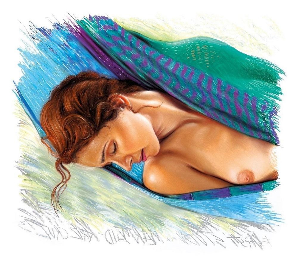 """Krzysztof Izdebski-Cruz, """"Mermaid"""", pastel na papierze, 65 x 71cm, 2013 r, 10 000 zł"""