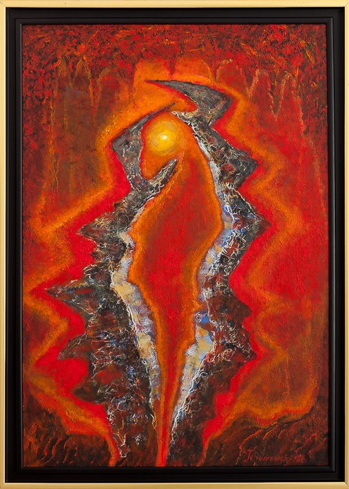 Jerzy Tchórzewski, Bez tytułu, 62×89 cm, olej na desce, 1986, cena 35 000 zł