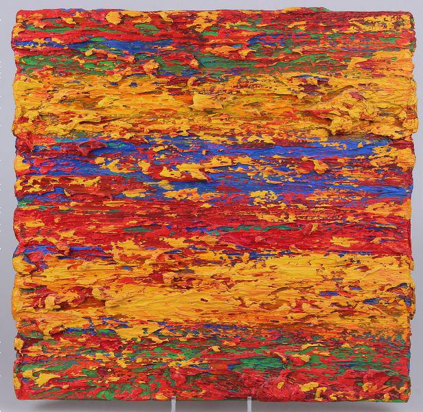 Leon Tarasewicz, Bez tytułu, 50×50 cm, olej na płótnie, 1999, cena 30 000 zł