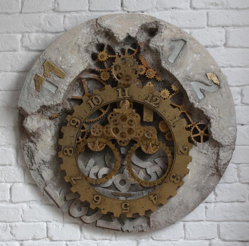 """Jarosław Kukowski, """"Zegar XXXI"""", 90×7 cm"""
