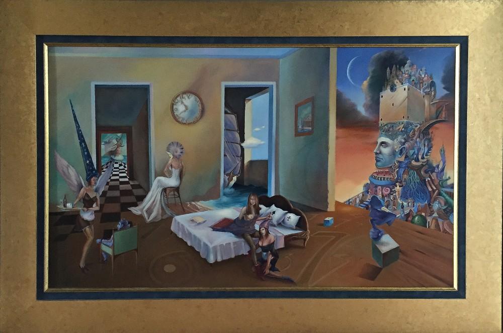 """Tomasz Sętowski, """"Magiczny pokój"""", olej na płótnie,100 x 60, cena 24 000 zł"""