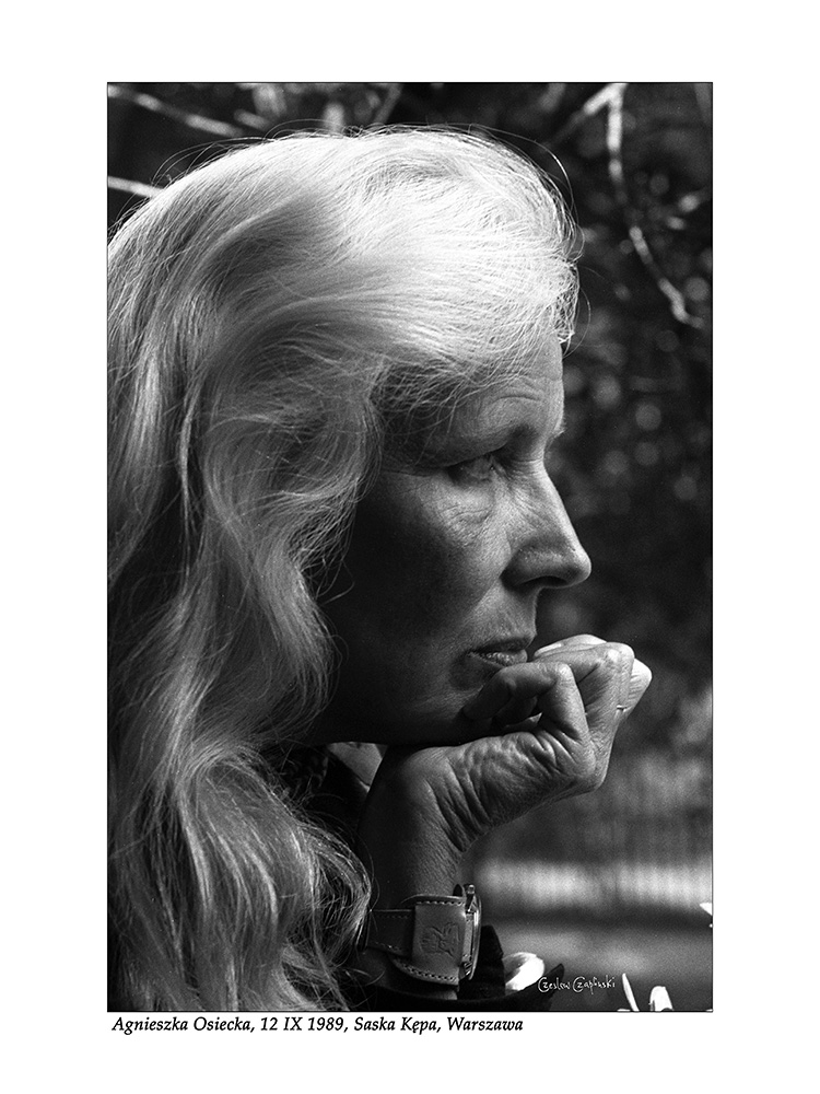Agnieszka Osiecka, 12 IX 1989, Saska Kępa, Warszawa