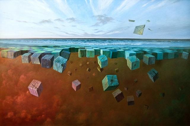 """""""Abyss"""", 2015, olej na płótnie, 80×120 cm, 12 000 zł"""