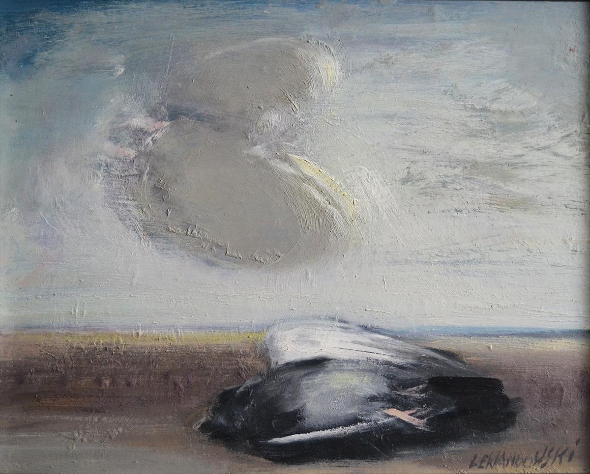 """""""Martwy ptak"""", 2017, olej na płycie, 61×49 cm, cena – 15 000 zł"""