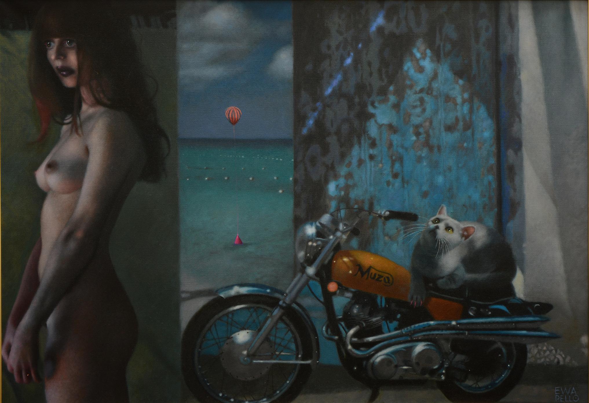 """""""Blue Muse"""", olej na płótnie, 70 x 100 cm, 25 000 zł"""