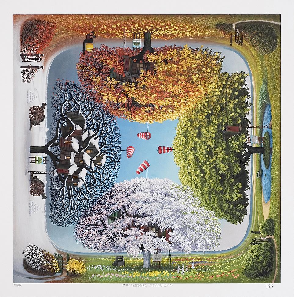 """""""Kalendarz jabłkowy"""", 2012, giclée, papier, 63,9 x 63,7 cm, 2 500 zł"""