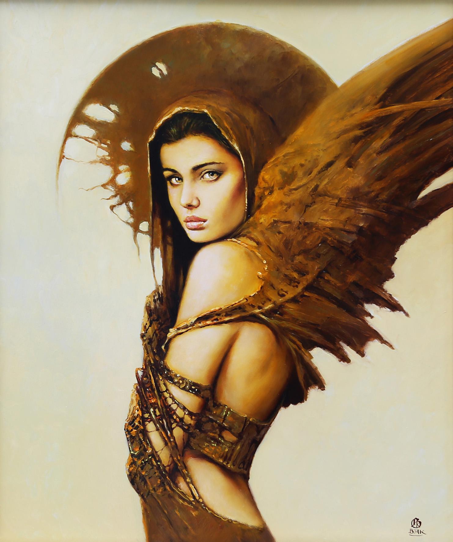 """""""Złoty świt III"""", 2016, olej na płycie, 50 x 60 cm"""