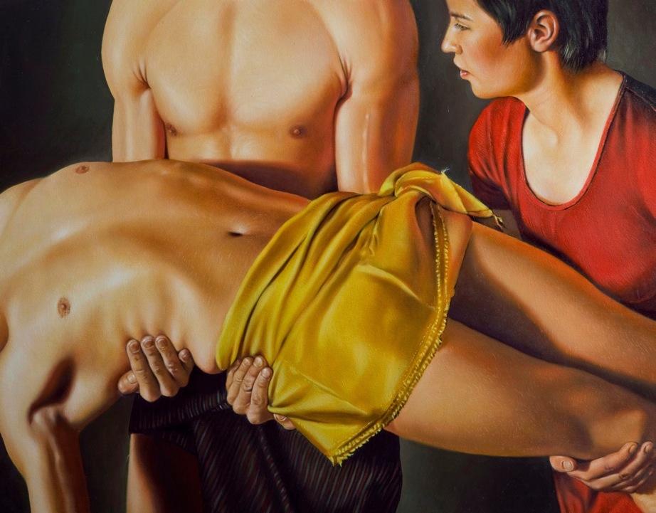 """""""Powrót króla"""", 2015, olej na płótnie, 73 x 55 cm, cena na telefon lub maila"""