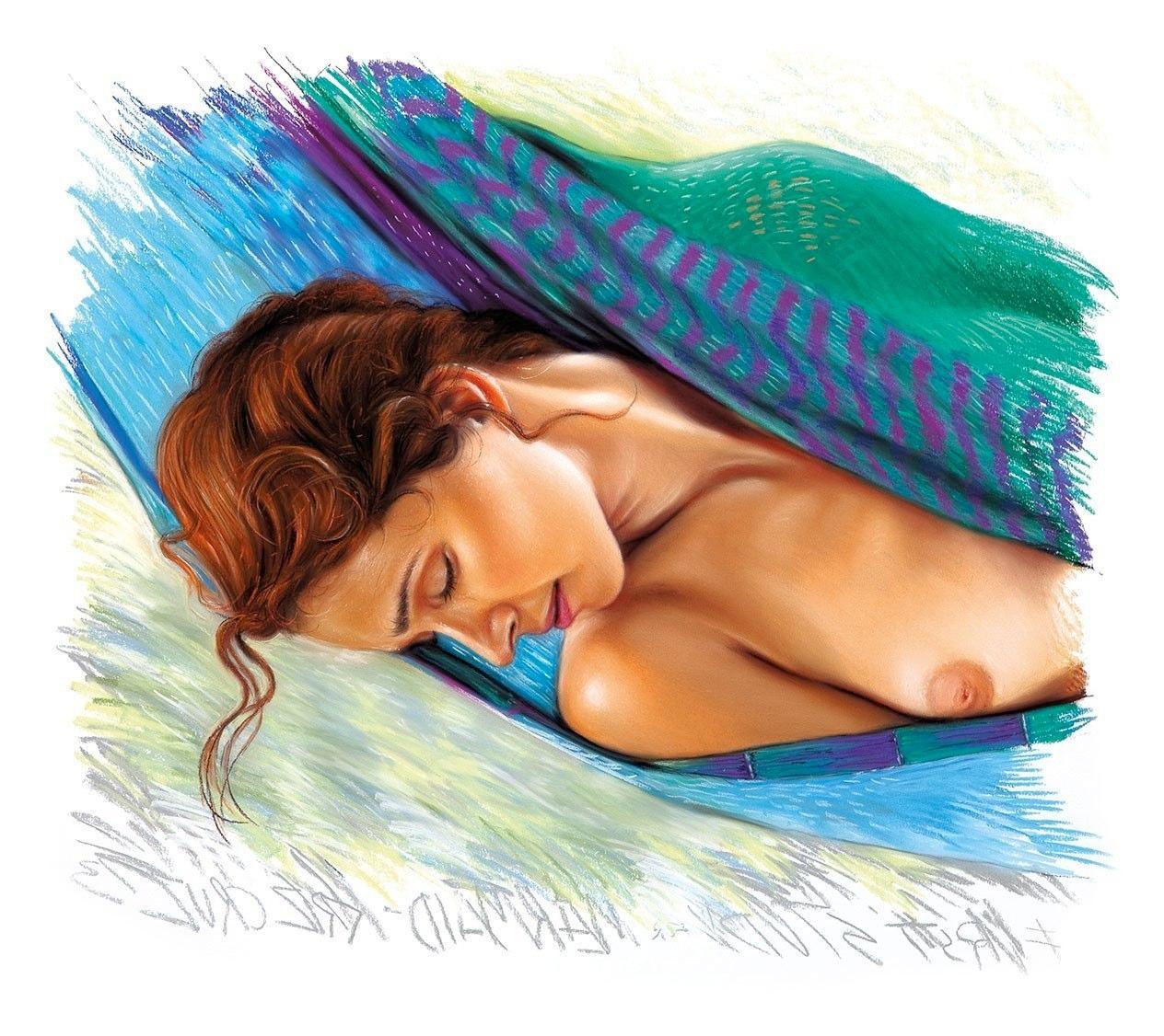 """""""Studium do obrazu Mermaid"""", 2013, pastel na papierze, 71 x 66 cm, cena na telefon lub maila"""