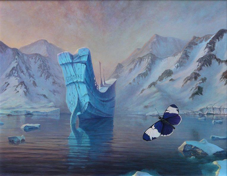 """""""Magellan"""", 2017, obraz olejny na płótnie, 90 x 70 zł, cena – 12 000 zł"""
