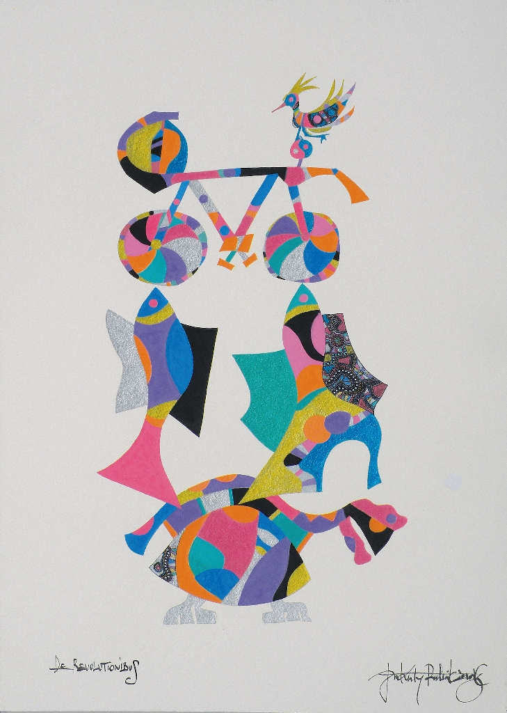 De Revolutionibus, 2017, grafika żel-art, egz.3/50, 29 x 21 cm, cena – 1 200 zł