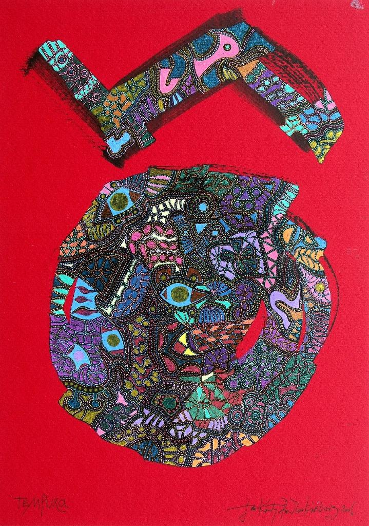 """Tempura"", 2017, grafika żel-art, egz. 8/50, 29 x 21 cm,  cena – 1 200 zł"