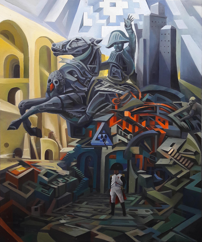 """100 dni…"", 2017, olej na płótnie, 100 x 120 cm, cena – 9 500 zł"