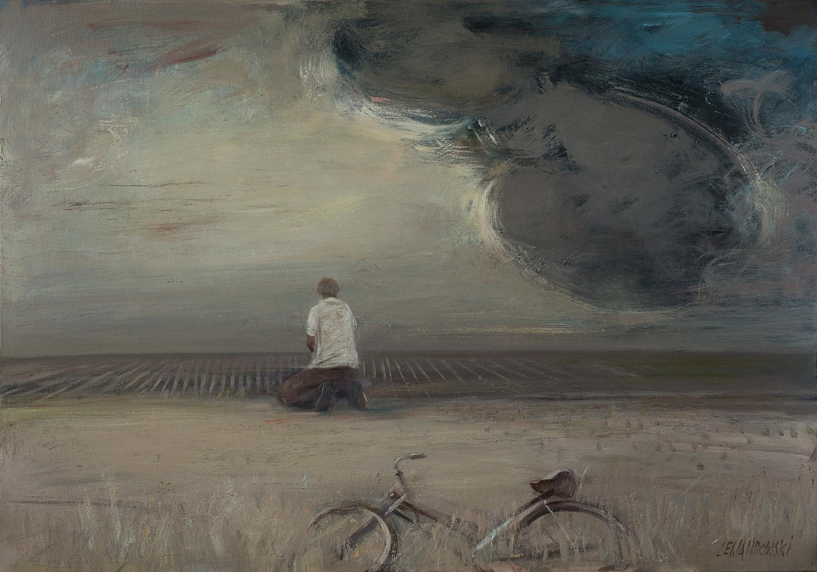 """""""Widnokrąg"""", 2017, olej na płótnie, 127 x 110 cm, cena – 35 000 zł"""