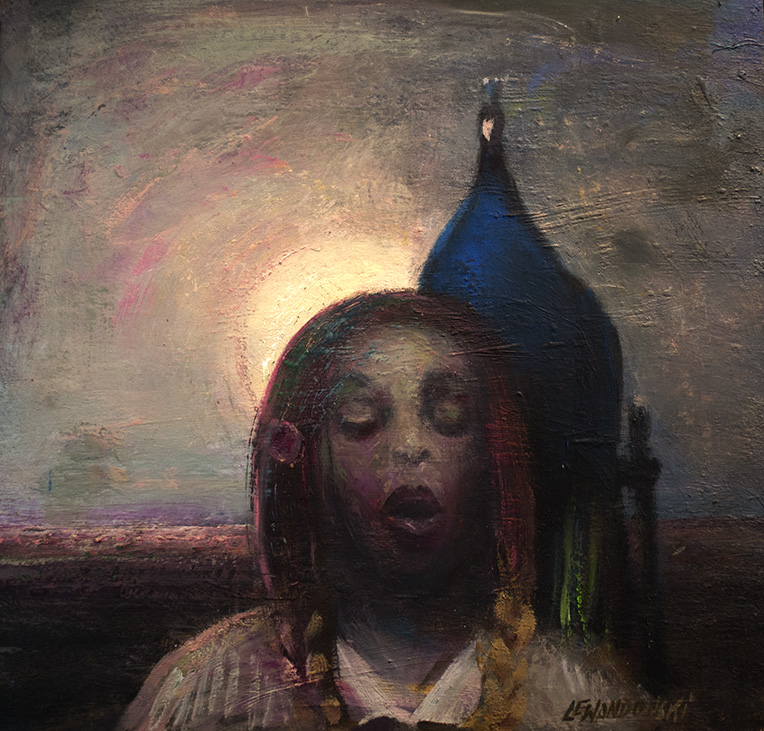 """""""Melancholia"""", 2018, olej na płycie, 55 x 55 cm, cena – 10 000 zł"""