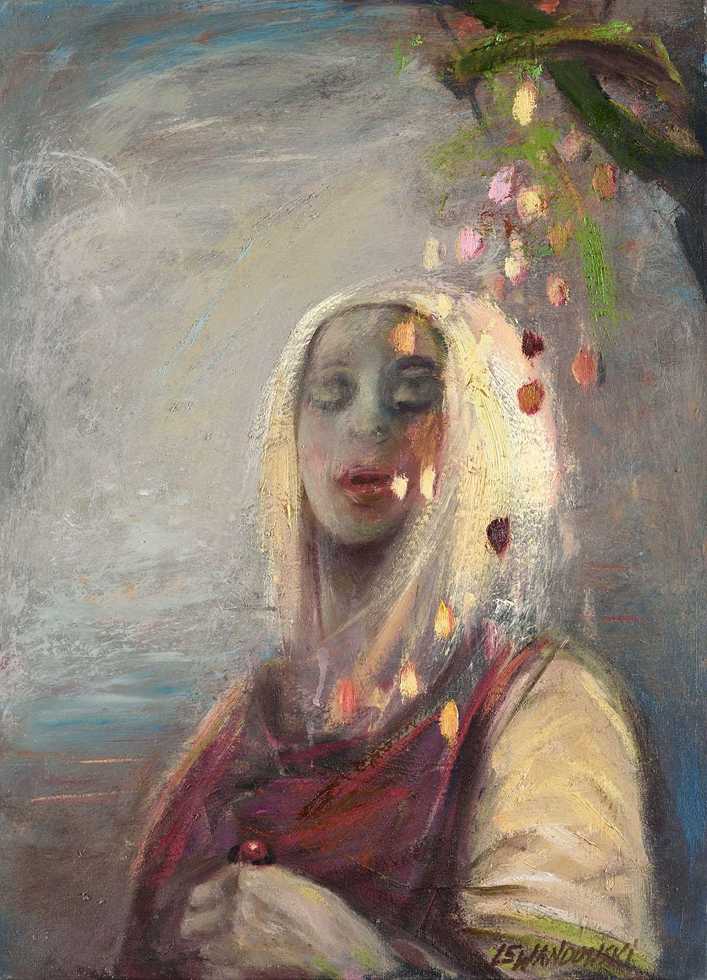 """""""Flora I"""", 2017, olej na płótnie, 55 x 70 cm, cena – 18 000 zł"""