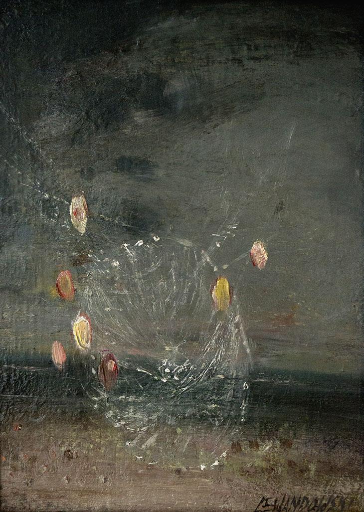 """""""Pajęczyna"""", 2018, olej na płycie, 30 x 39 cm, cena – 4 000 zł"""