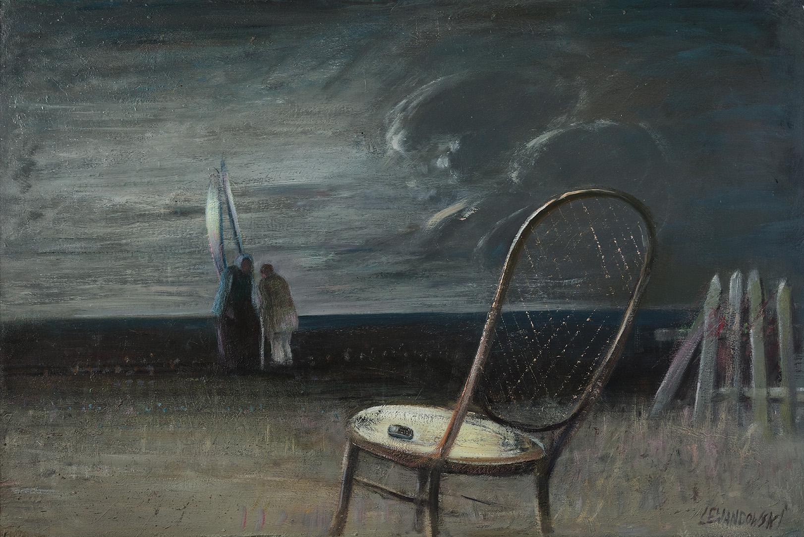 """""""Thanatos"""", 2013, olej na płótnie, 152 x 105 cm, cena – 35 000 zł"""