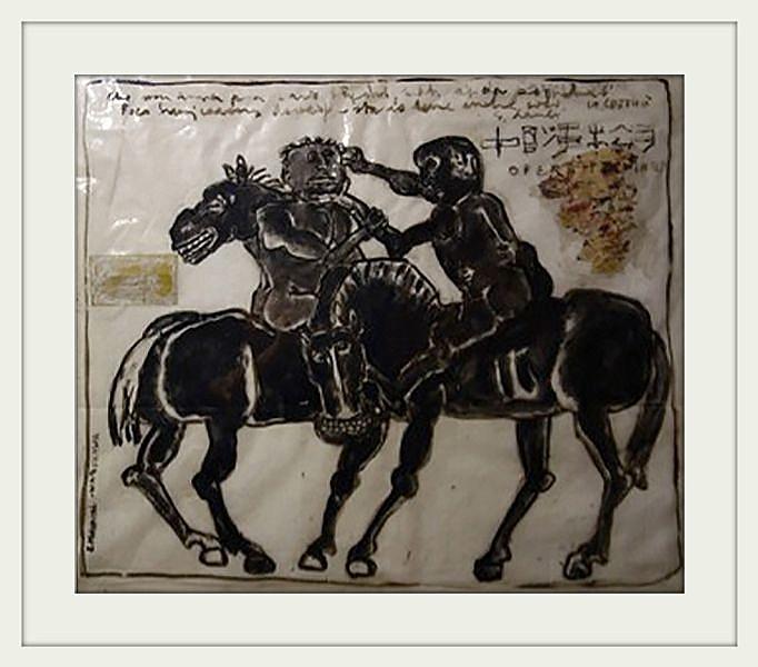 """Eugeniusz Markowski, """"Bez tytułu"""", 100×112 cm, olej na folii, cena 38 000 zł"""