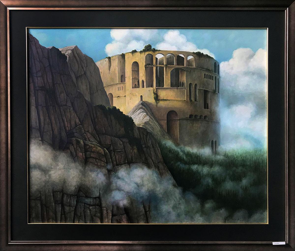 """Jacek Szynkarczuk """"Arena Mundi"""", 80×100 cm, w ramie 120×100 cm, olej na płótnie, cena 13000 zł"""