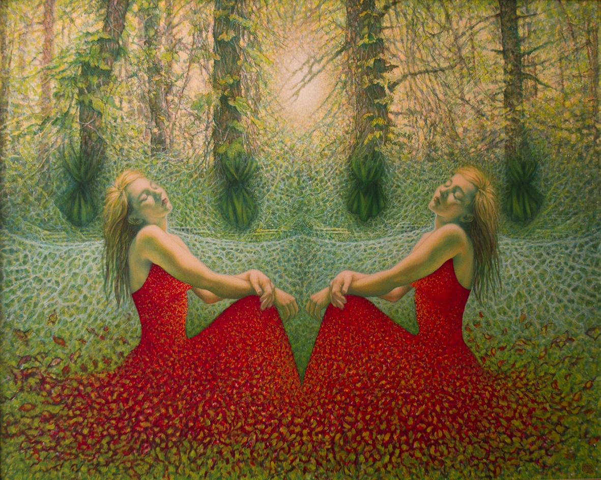"Katarzyna Kania, ""Sen o Nieśmiertelności"" 100×125 cm, olej na płótnie"