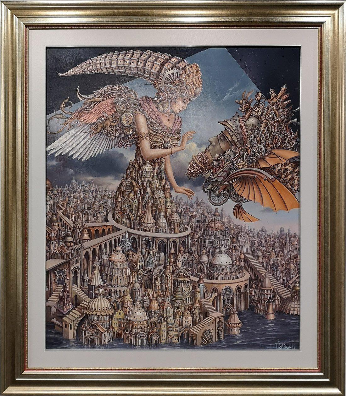 """Tomasz Sętowski, """"Gentle Touch"""", olej na płótnie,100×120 cm, cena 67000 zł"""