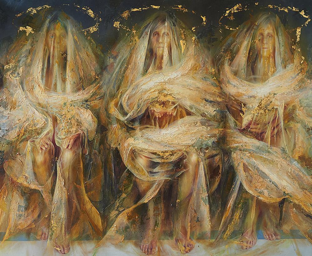 """""""Ofiara"""", 182×152 cm', olej na płótnie"""