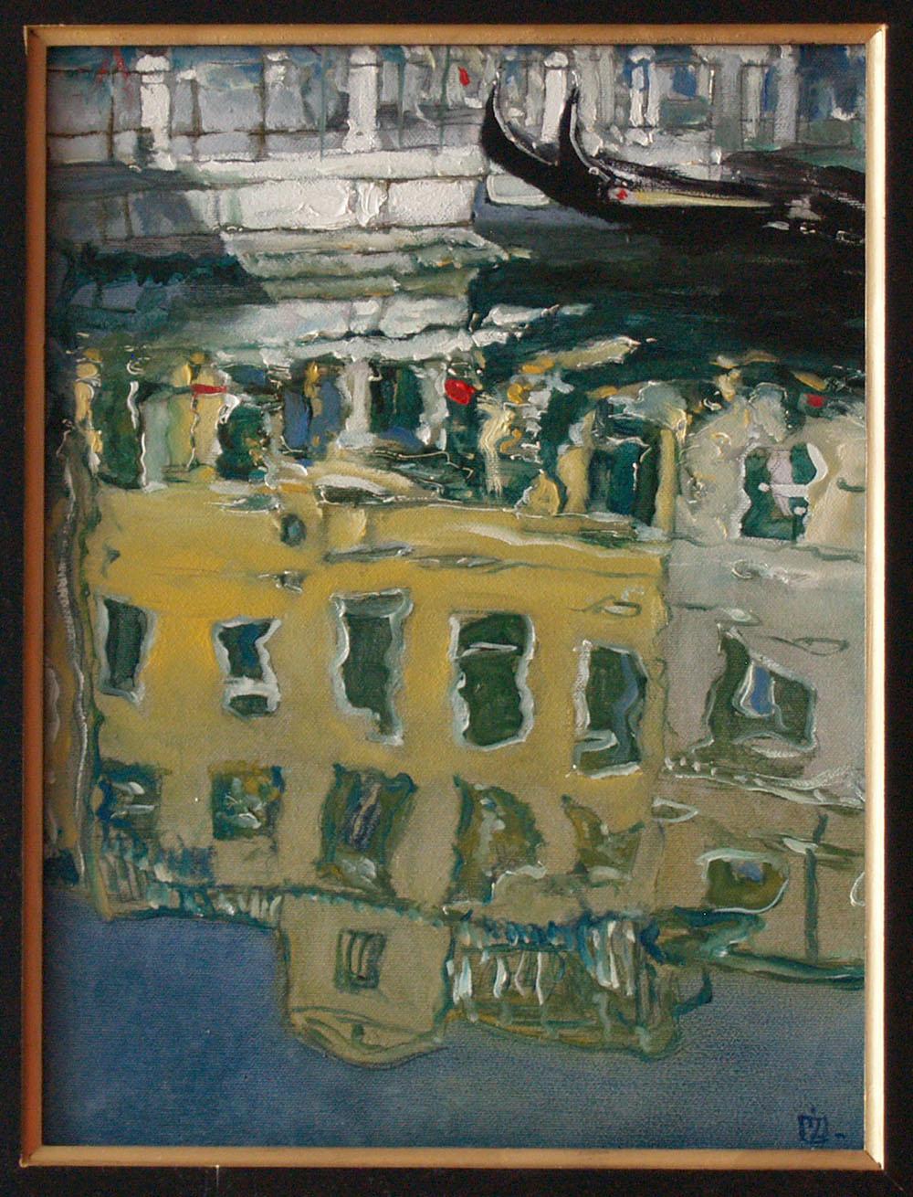 "Dariusz Żejmo, ""Venetian sketchbook 49"", olej na płótnie, 30x40cm"