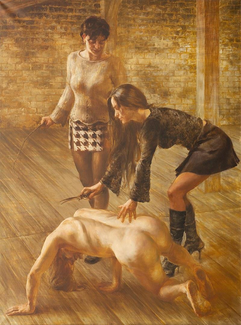 Piotr Naliwajko, Dwie Dalile, 193×152cm, olej na płótnie, cena 35000 zł