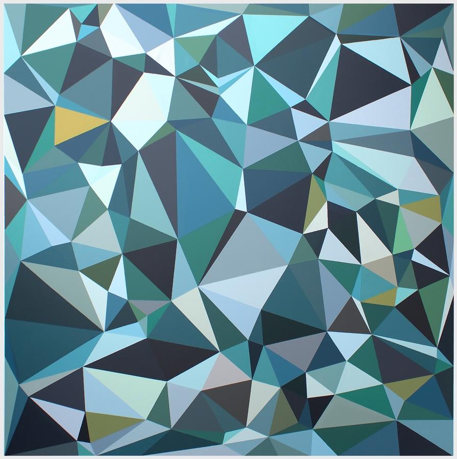 Malwina Puszcz, #4492B3, akryl na płótnie, 120×120 cm, 2020