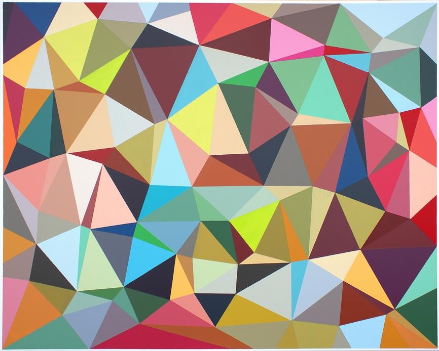 Malwina Puszcz, #ECD569, akryl na płótnie, 80×100 cm, 2020