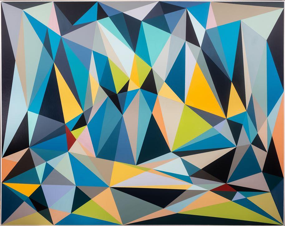 Malwina Puszcz, #5896D8, akryl na płótnie, 120×150 cm, 2020, cena – obraz niedostępny