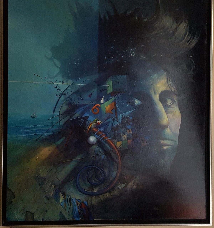 """Tomasz Sętowski, """"Autoportret"""", 100 x 100 cm, olej na płótnie, cena – niedostępny"""